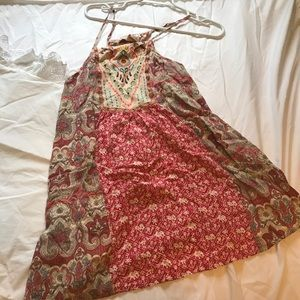Flying Tomato sundress coral shades size small